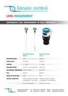Download flyer Filling Level Measurement