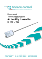 Download Humidity Transmitter LF | Humidity / Air Temperature Measurement